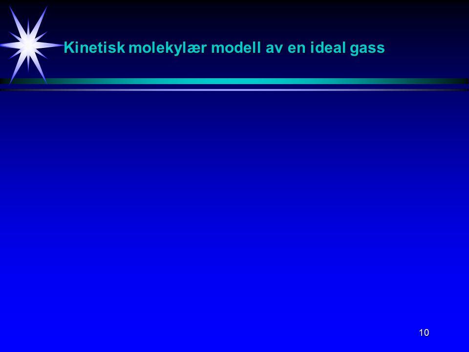 Kinetisk molekylær modell av en ideal gass
