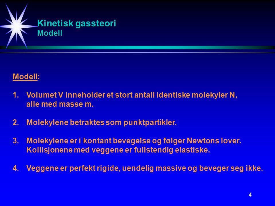 Kinetisk gassteori Modell