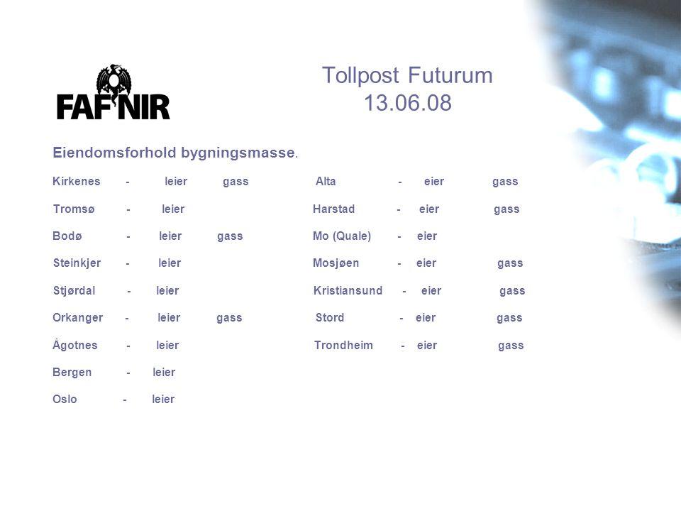 Tollpost Futurum 13.06.08 Eiendomsforhold bygningsmasse.