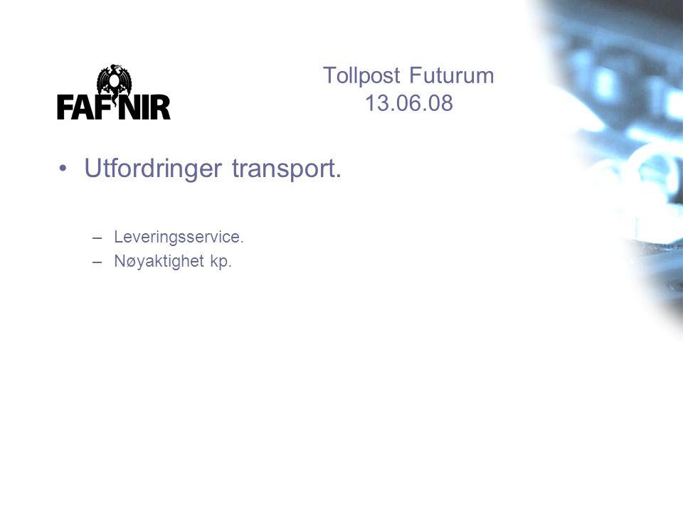 Utfordringer transport.