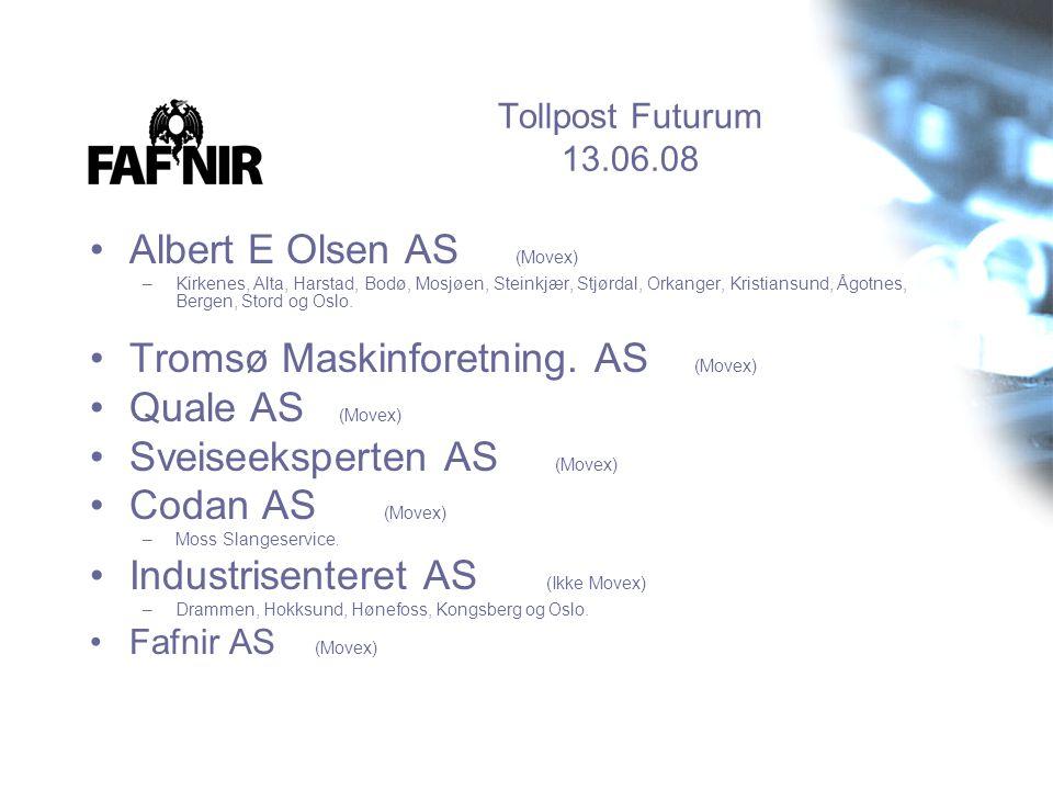 Albert E Olsen AS (Movex) Tromsø Maskinforetning. AS (Movex)