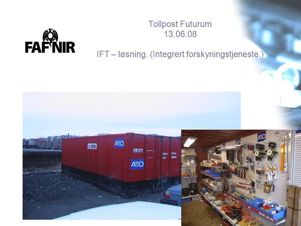 Tollpost Futurum 13. 06. 08 IFT – løsning