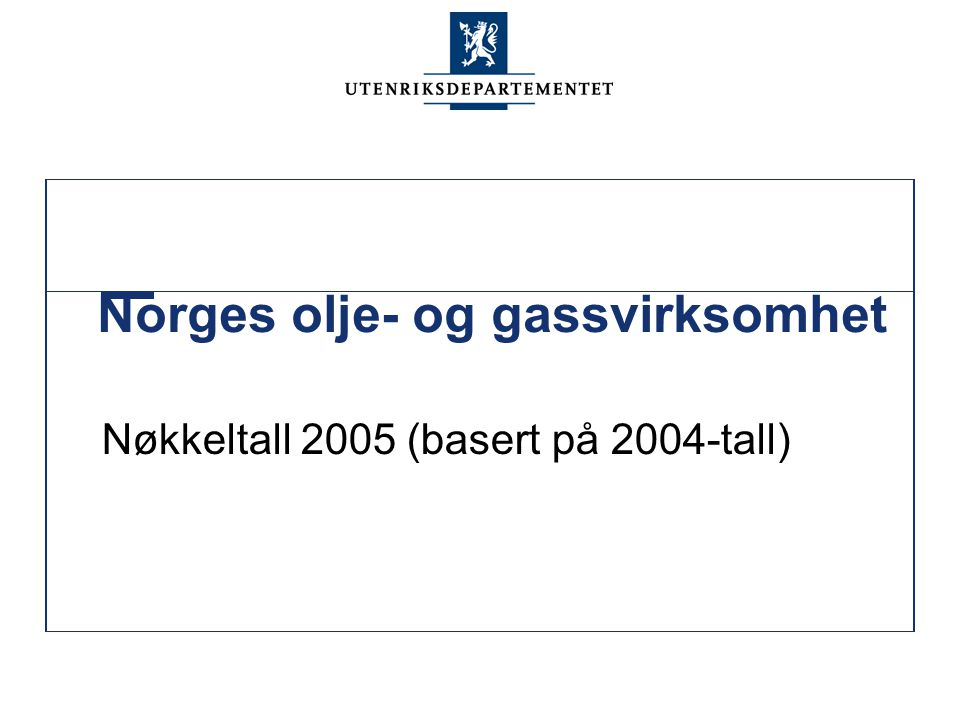 Norges olje- og gassvirksomhet