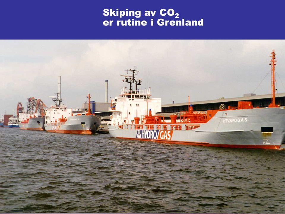 Skiping av CO2 er rutine i Grenland