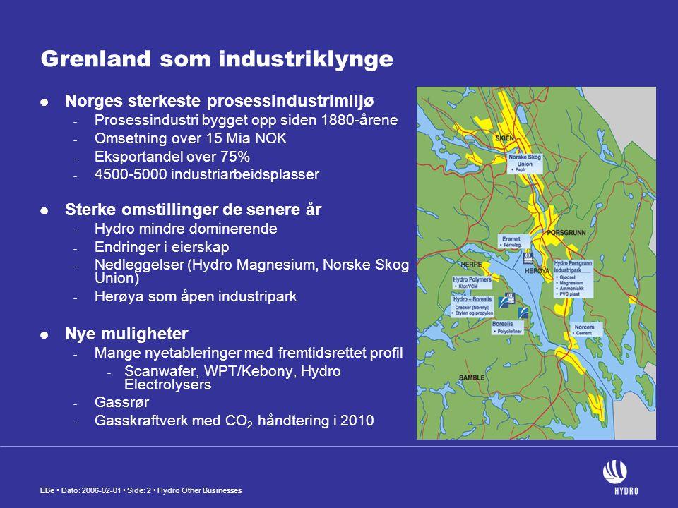 Grenland som industriklynge