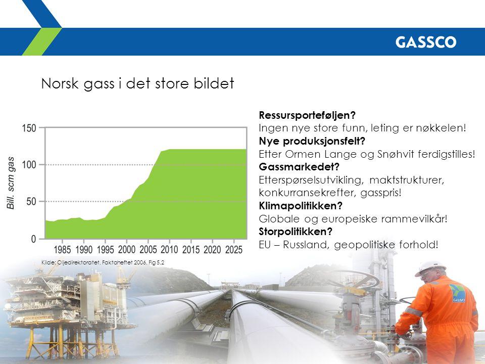 Norsk gass i det store bildet