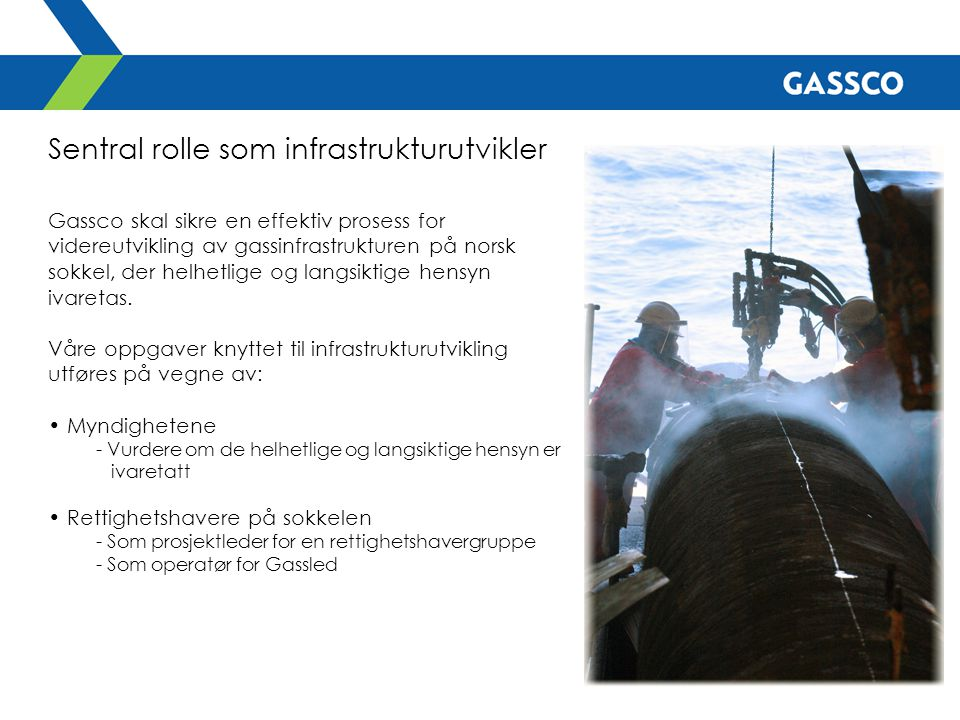 Sentral rolle som infrastrukturutvikler