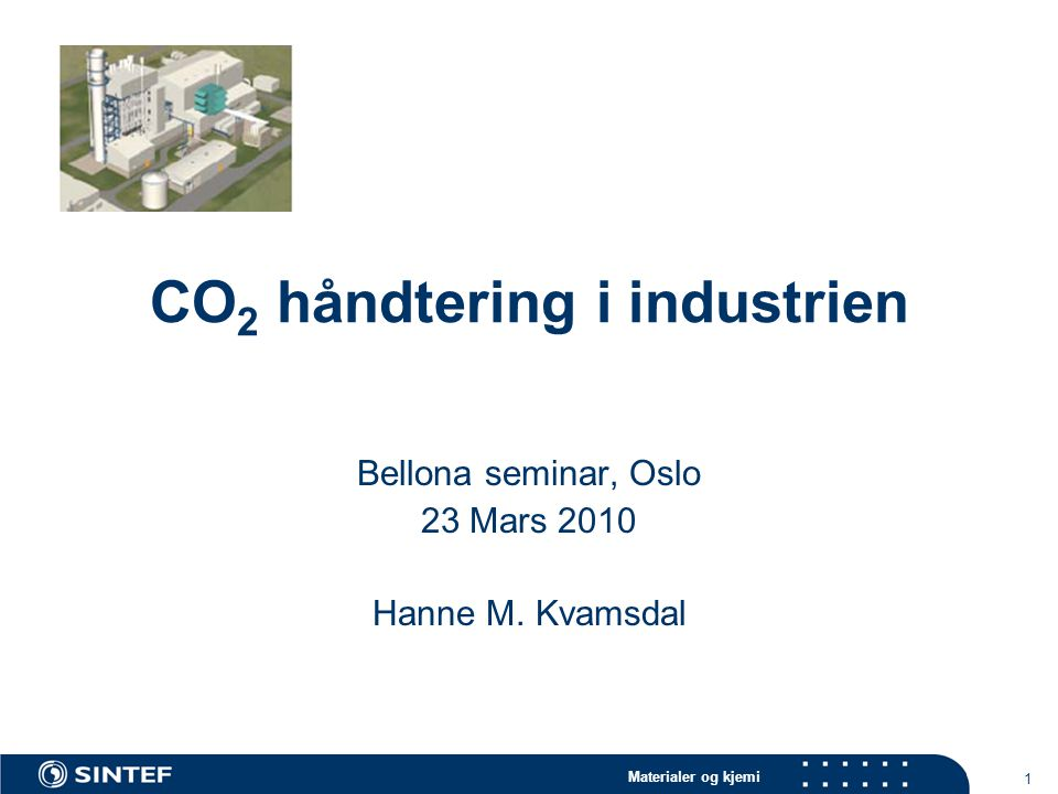 CO2 håndtering i industrien