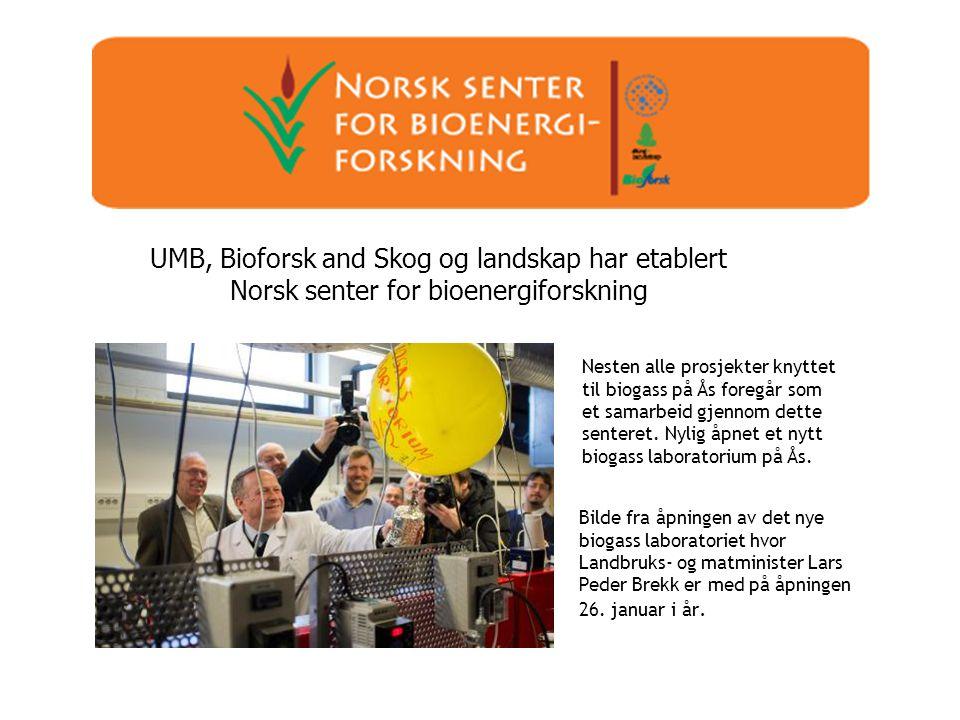 UMB, Bioforsk and Skog og landskap har etablert