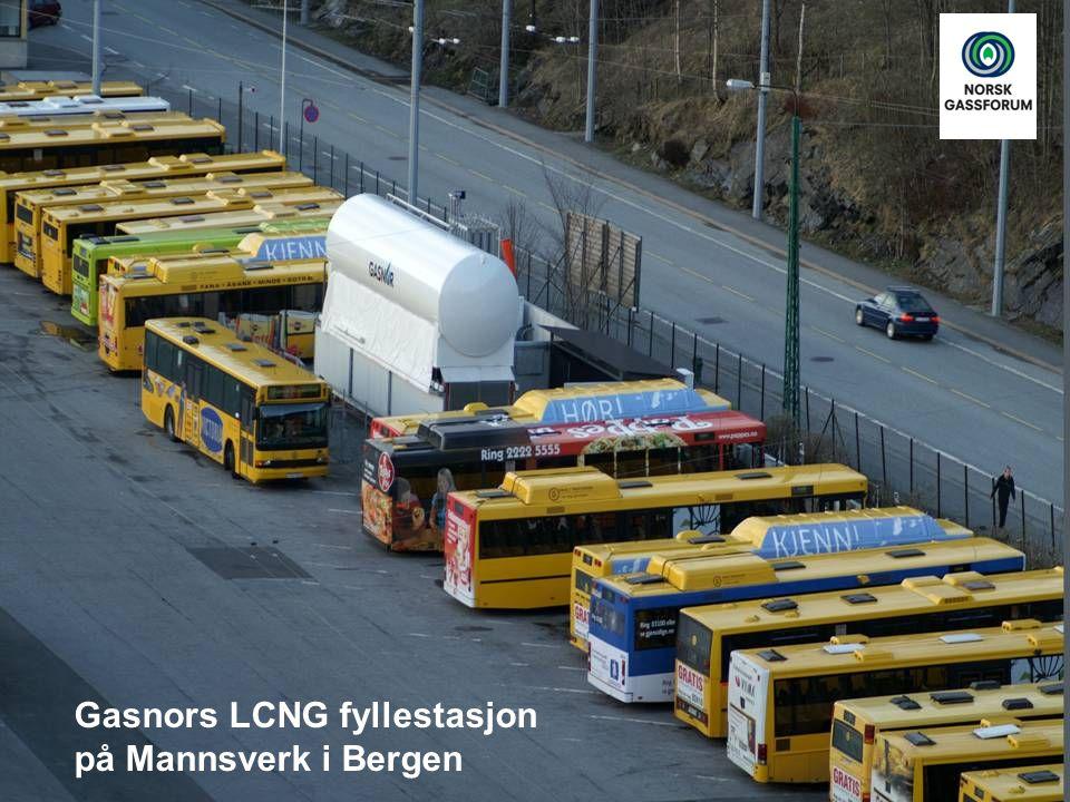 Gasnors LCNG fyllestasjon på Mannsverk i Bergen