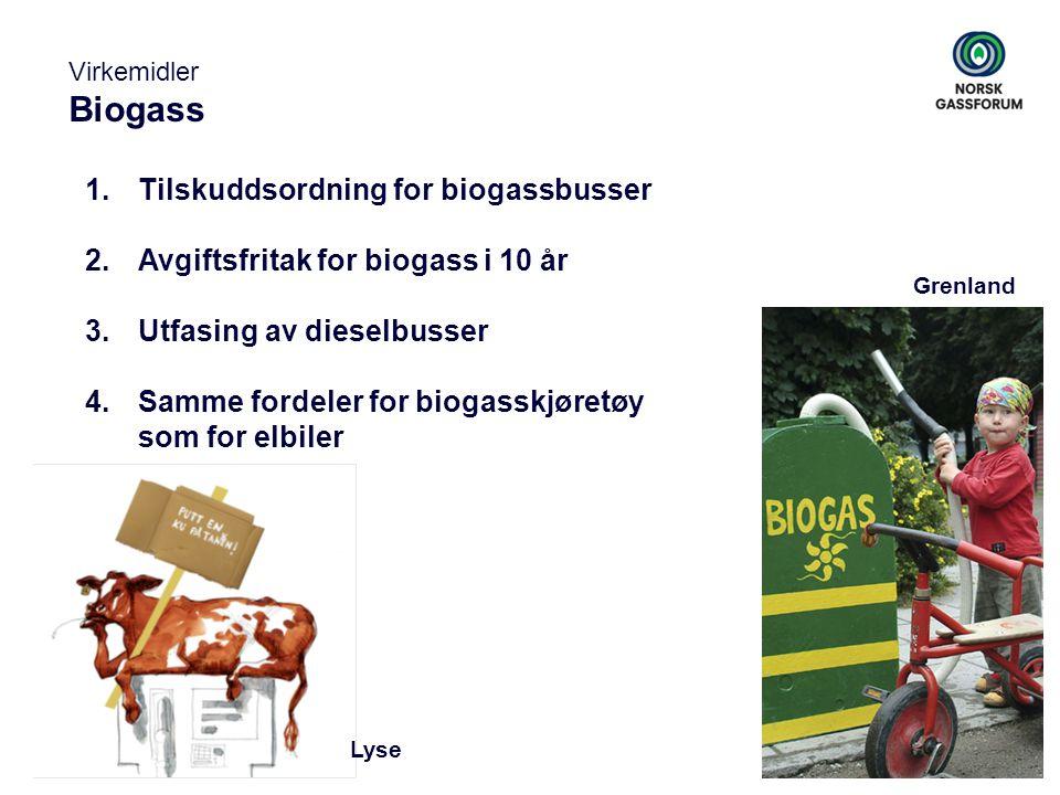 Biogass Tilskuddsordning for biogassbusser