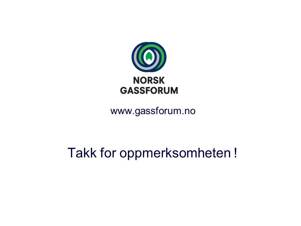 www.gassforum.no Takk for oppmerksomheten !