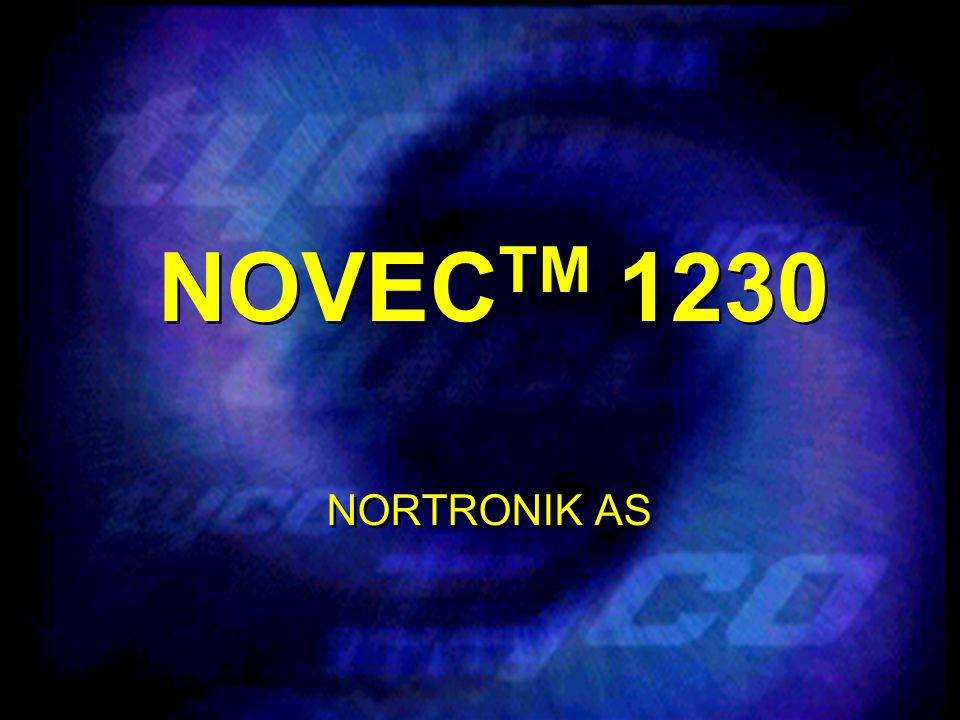 NOVECTM 1230 NORTRONIK AS.