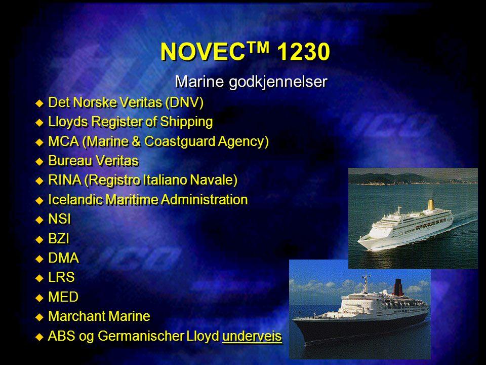 NOVECTM 1230 Marine godkjennelser Det Norske Veritas (DNV)