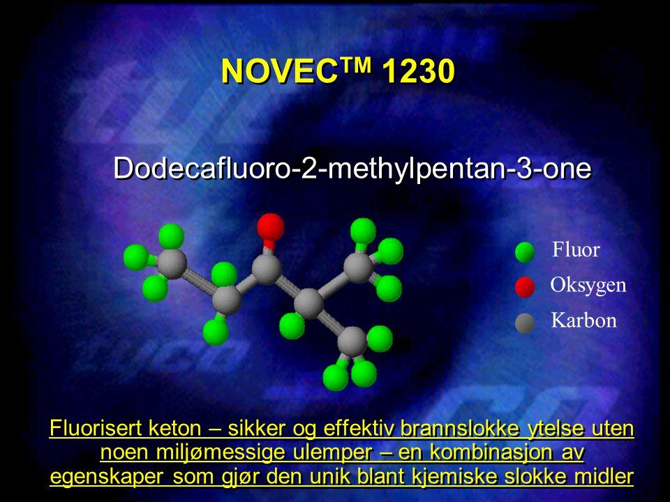 NOVECTM 1230 Dodecafluoro-2-methylpentan-3-one Fluor Oksygen