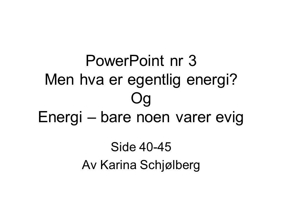 Side 40-45 Av Karina Schjølberg