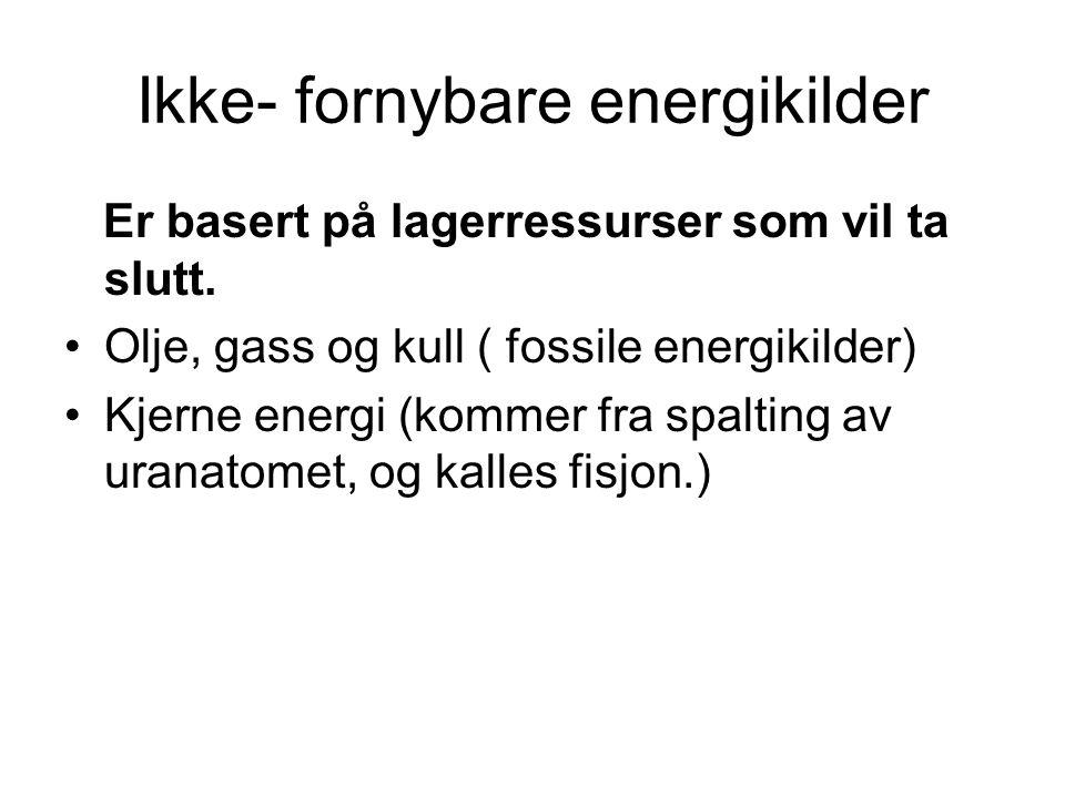Ikke- fornybare energikilder