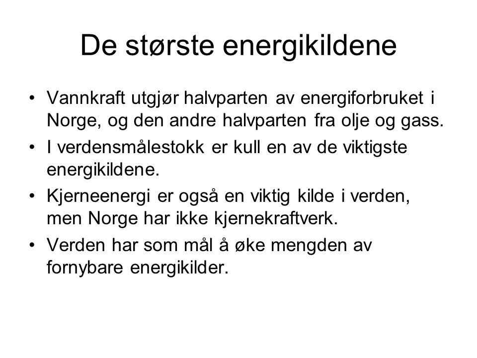 De største energikildene