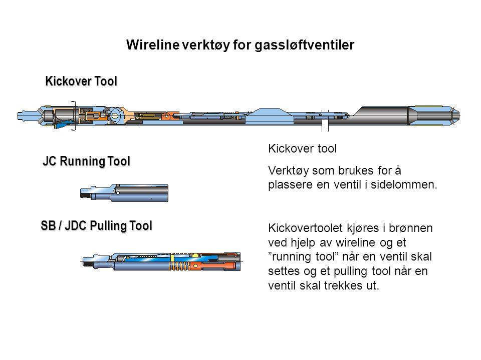 Wireline verktøy for gassløftventiler