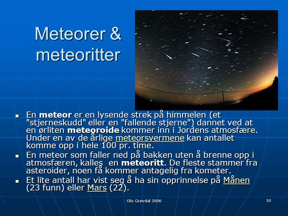 Meteorer & meteoritter