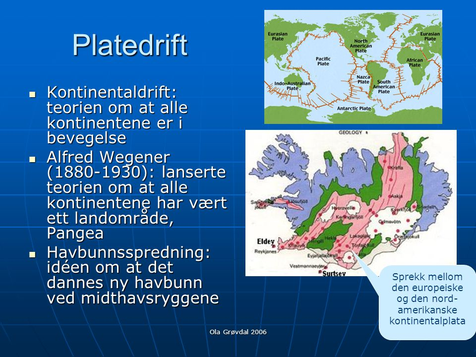 Sprekk mellom den europeiske og den nord-amerikanske kontinentalplata