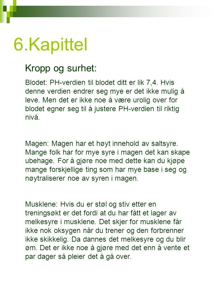 6.Kapittel Kropp og surhet: