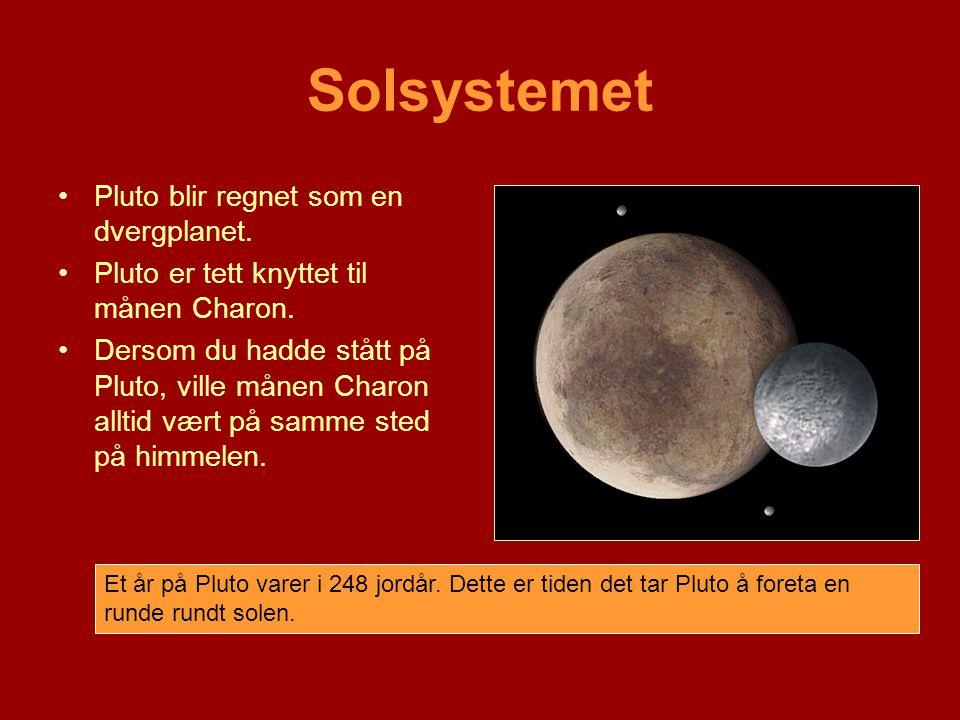 Solsystemet Pluto blir regnet som en dvergplanet.