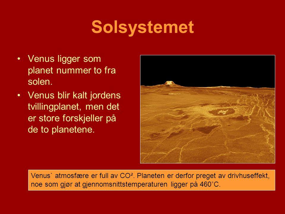 Solsystemet Venus ligger som planet nummer to fra solen.