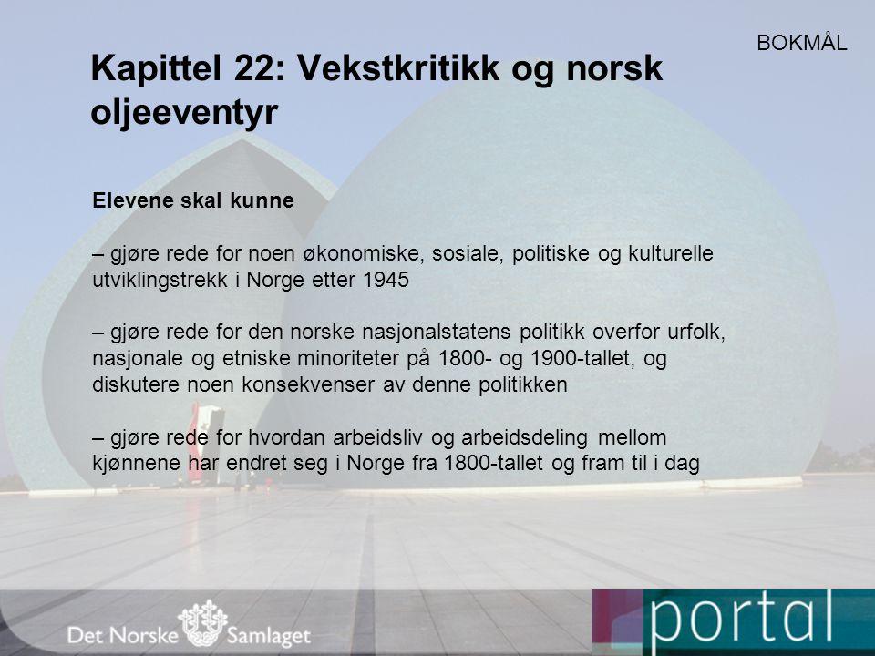 Kapittel 22: Vekstkritikk og norsk oljeeventyr