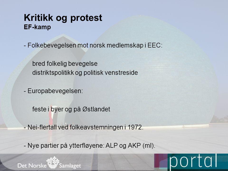 Kritikk og protest EF-kamp
