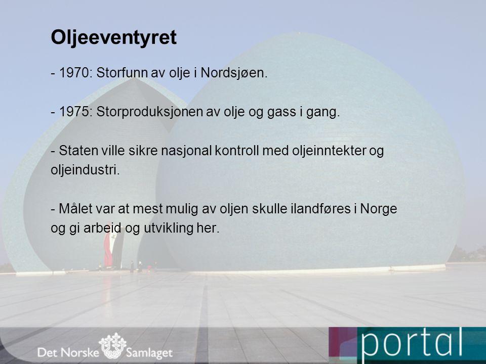 Oljeeventyret - 1970: Storfunn av olje i Nordsjøen.