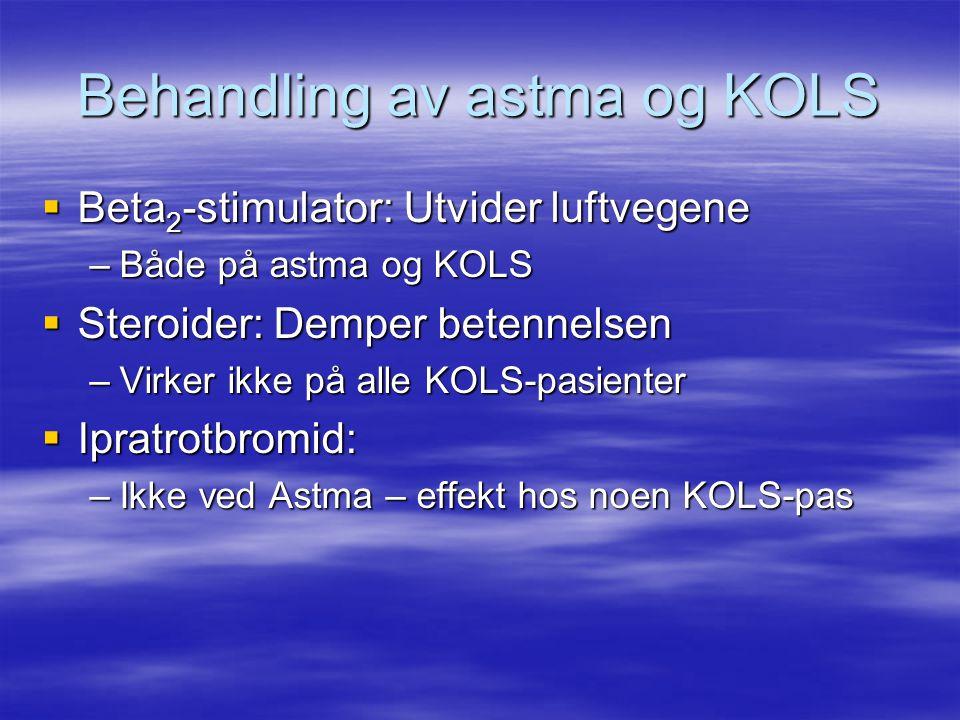 Behandling av astma og KOLS