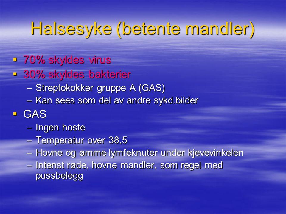 Halsesyke (betente mandler)