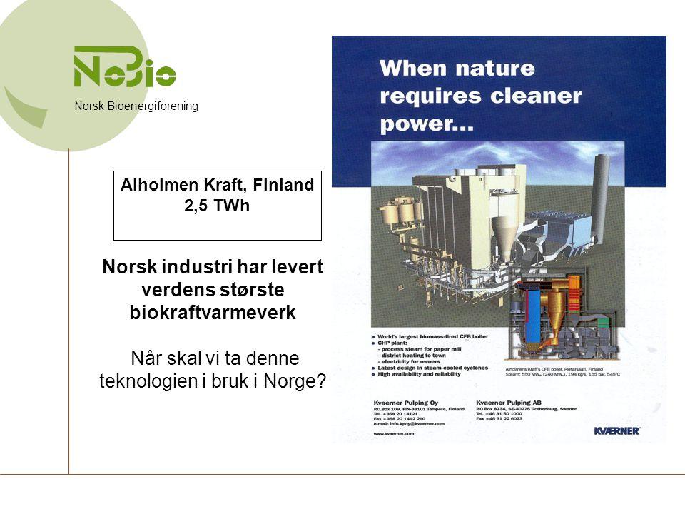 Norsk industri har levert verdens største biokraftvarmeverk