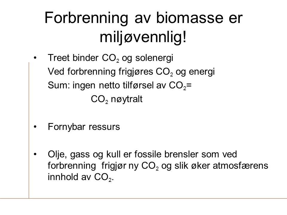 Forbrenning av biomasse er miljøvennlig!