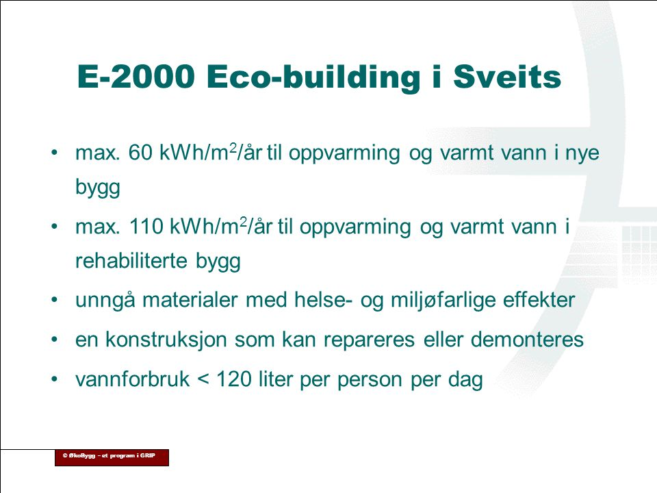 E-2000 Eco-building i Sveits