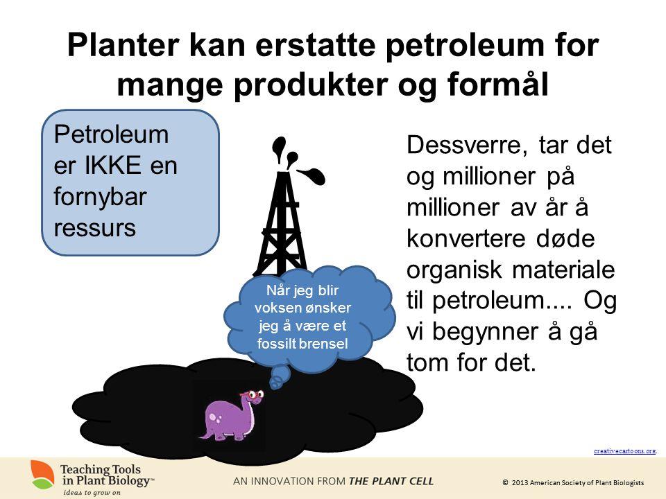 Planter kan erstatte petroleum for mange produkter og formål