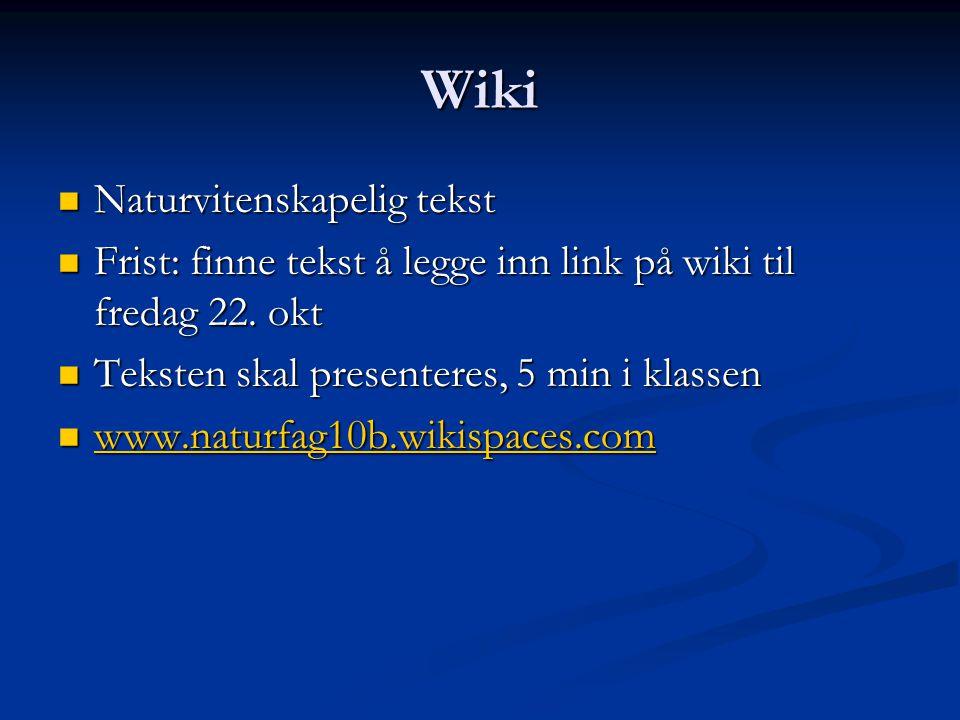Wiki Naturvitenskapelig tekst