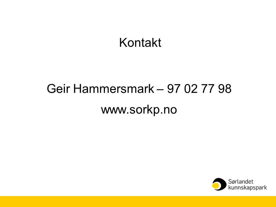 Geir Hammersmark – 97 02 77 98 www.sorkp.no