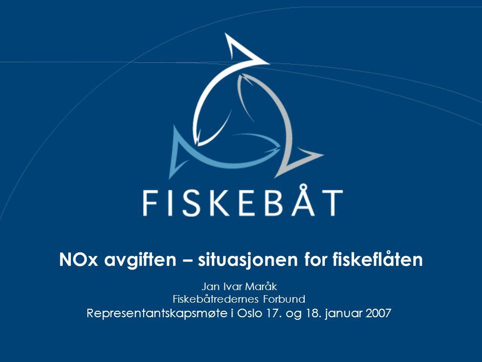 NOx avgiften – situasjonen for fiskeflåten