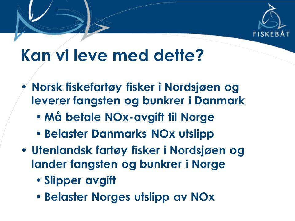 Kan vi leve med dette Norsk fiskefartøy fisker i Nordsjøen og leverer fangsten og bunkrer i Danmark.