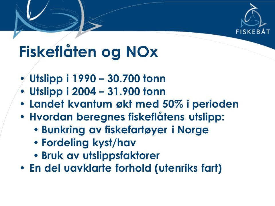 Fiskeflåten og NOx Utslipp i 1990 – 30.700 tonn