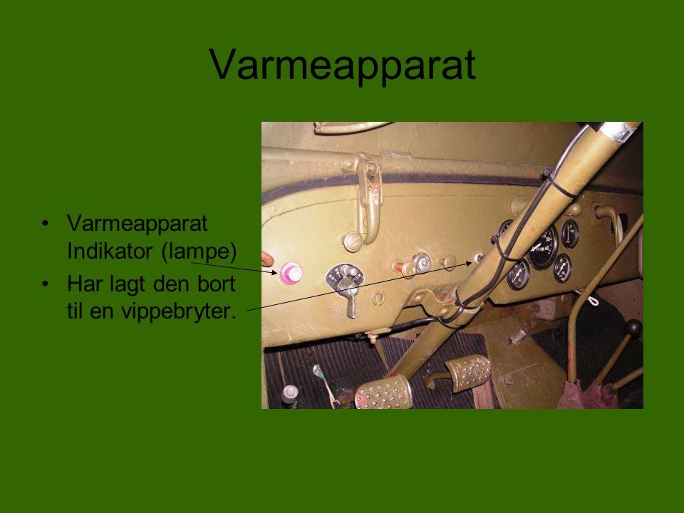 Varmeapparat Varmeapparat Indikator (lampe)
