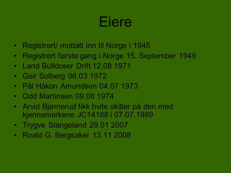 Eiere Registrert/ mottatt inn til Norge i 1945
