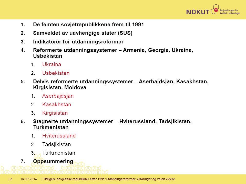 De femten sovjetrepublikkene frem til 1991