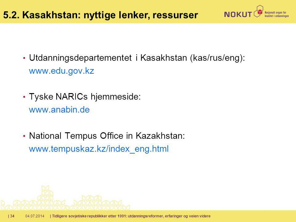 5.2. Kasakhstan: nyttige lenker, ressurser