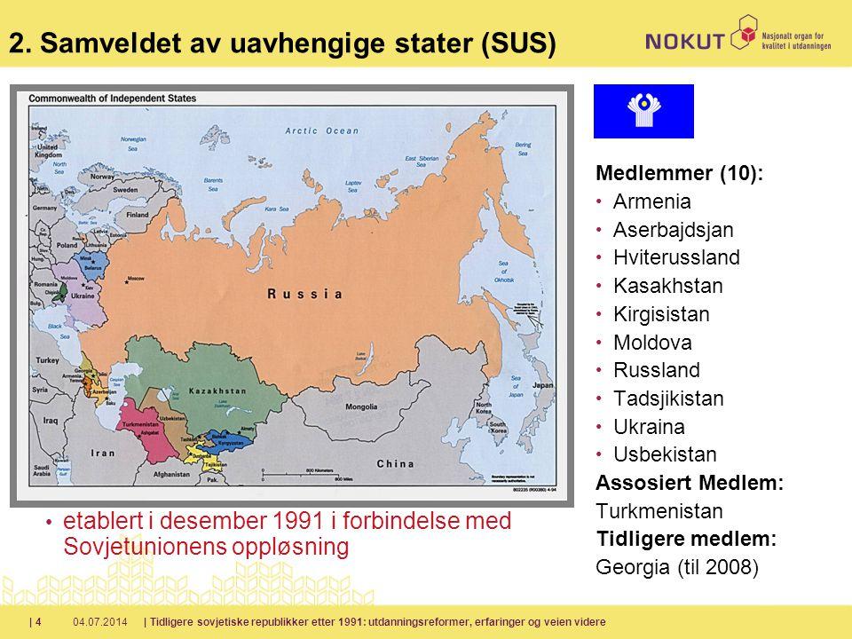 2. Samveldet av uavhengige stater (SUS)