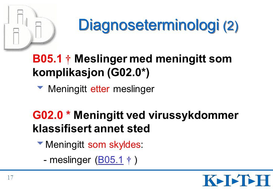Diagnoseterminologi (2)