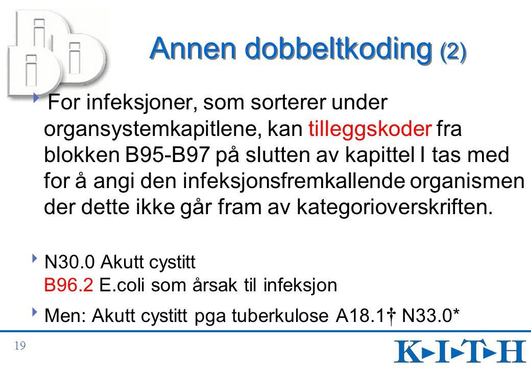 Annen dobbeltkoding (2)