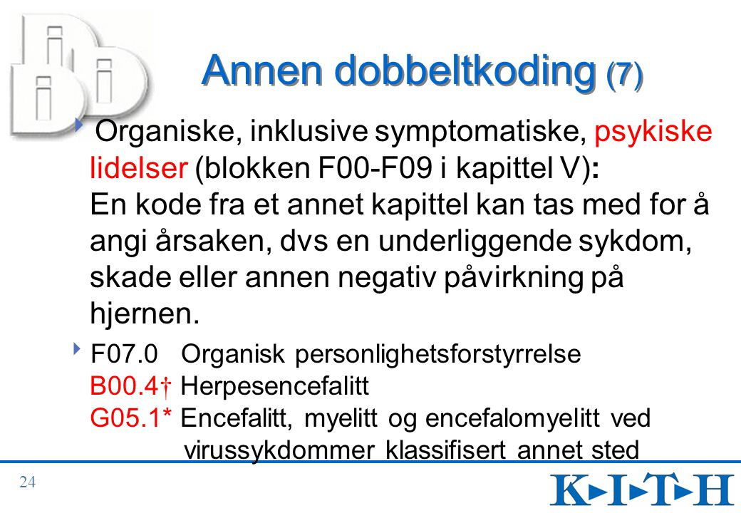 Annen dobbeltkoding (7)